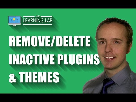 Remove/Delete Inactive Plugins & Themes - WordPress Security   WP Learning Lab