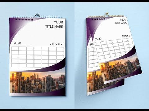 Calendar Design Tutorial 2020 | How To Make a Calendar in Illustrator CC | Graphic Design Tutorial thumbnail