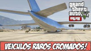 GTA V - Avião JUMBO Cromado e Outro Veículos! (Ps4)