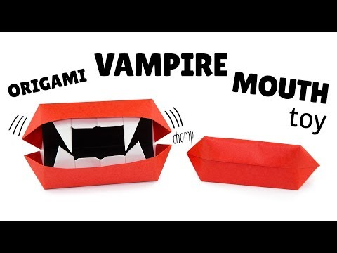 Origami Vampire Teeth Tutorial - Halloween DIY - Paper Kawaii