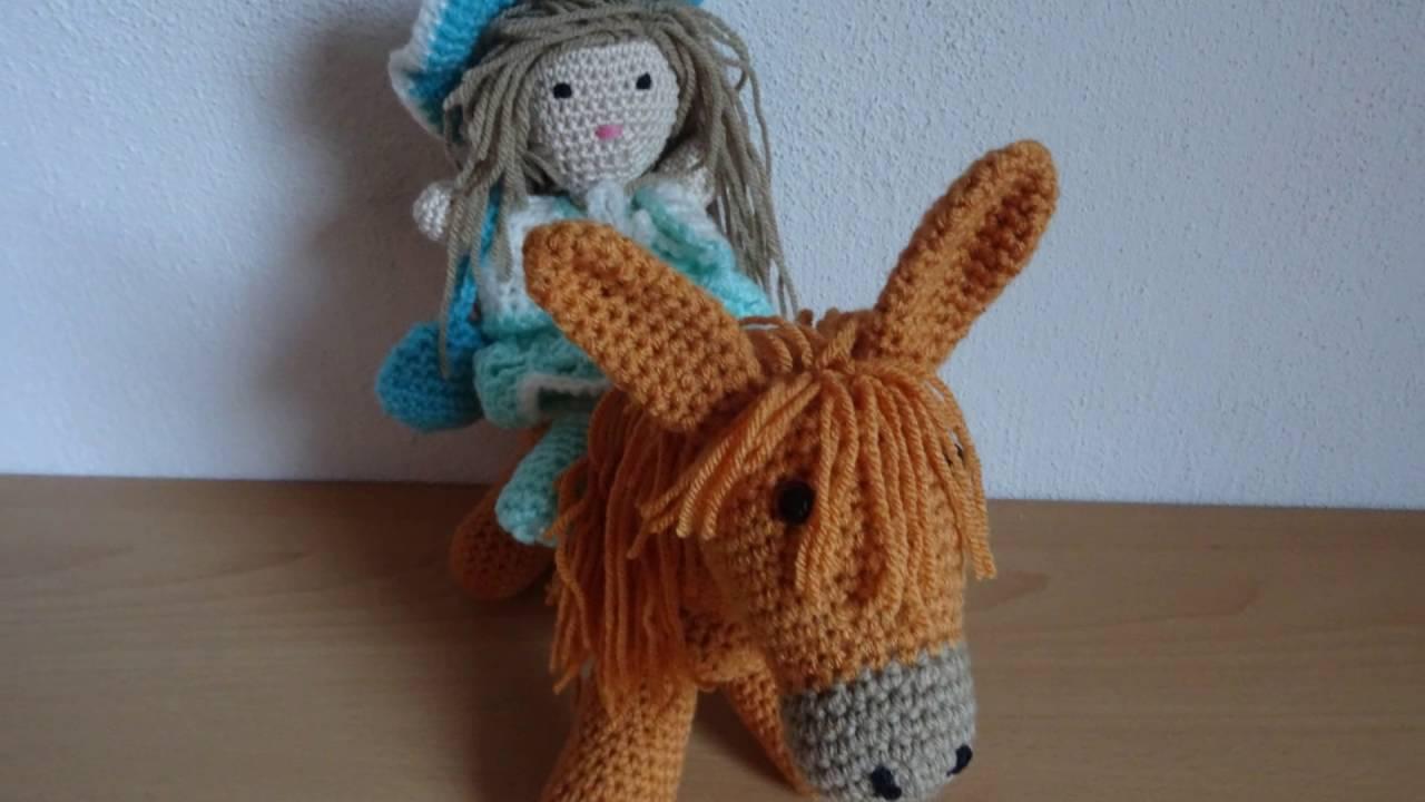 Mijn Diavoorstelling Crochet Amigurumi Little Doll Op Paard Youtube