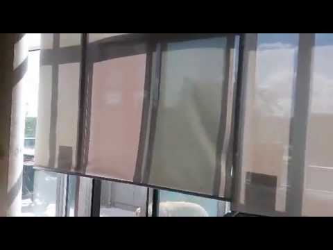 Motorized Blinds for 17' High Ceiling Liberty Village Loft by Condo Blinds