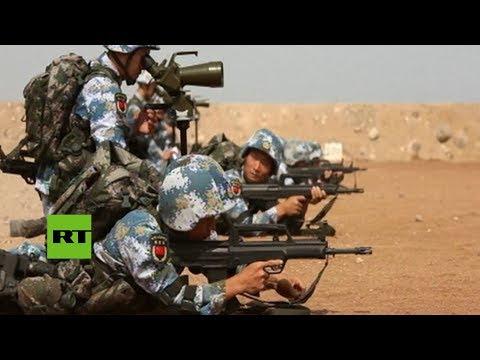 La base del Ejército de China en Yibuti realiza su primer simulacro de tiro