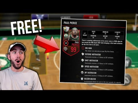 HOW TO GET 97+ PAUL PIERCE FOR FREE IN NBA LIVE MOBILE!!