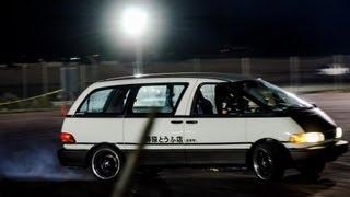 Toyota Previa Mini Van Drifting @ Firebird Raceway Drift & Drag 9/21/2012