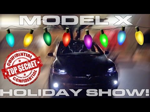 Tesla Model X Holiday Show Easter Egg and P100D Speed Update