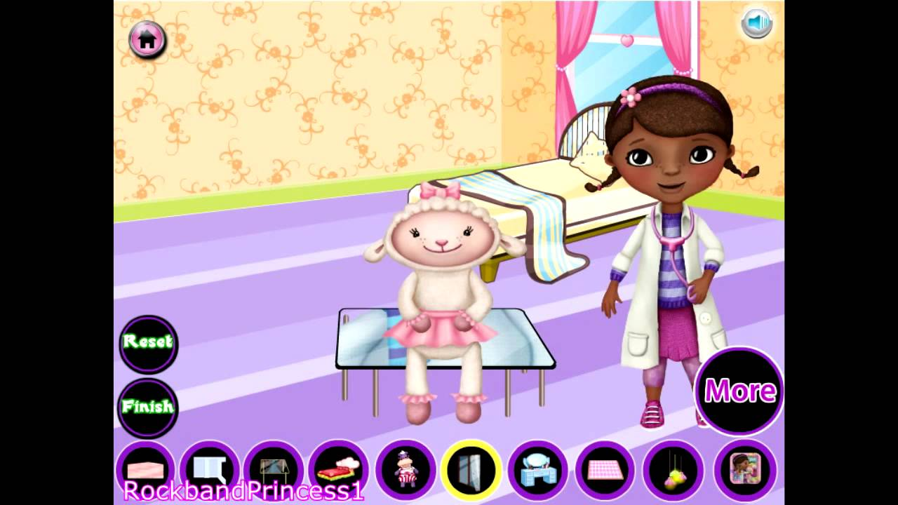 Doc McStuffins Online Games Room Decoration Dress Up Game