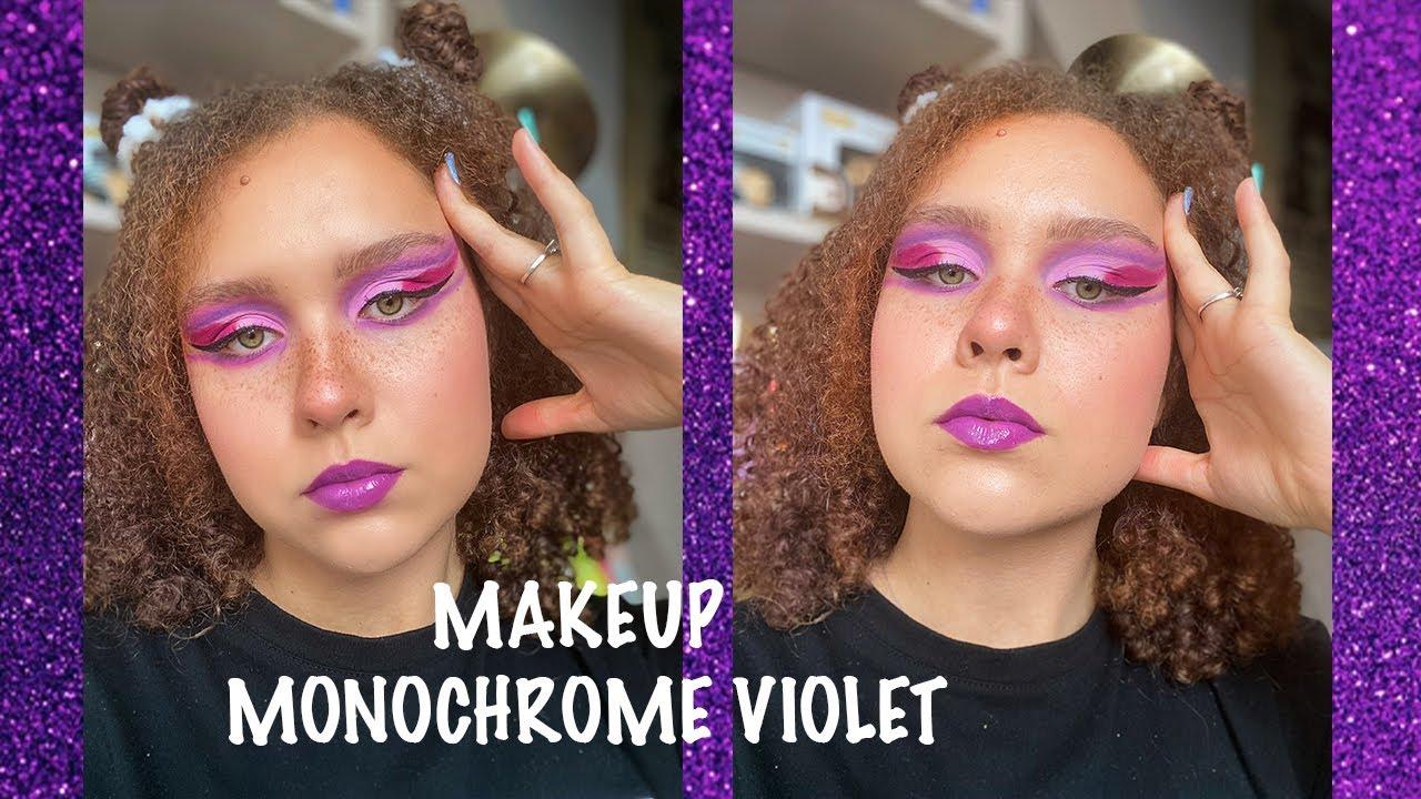 @Camille Ricordel: TUTO makeup monochrome violet ! 💜