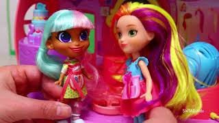 Hairdorables Girls Go To Sunny Day's Hair Salon ! Toys and Dolls Pretend Play for Kids | SWTAD