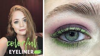 Яркие цветные стрелки / летний макияж: пошаговый видео-урок