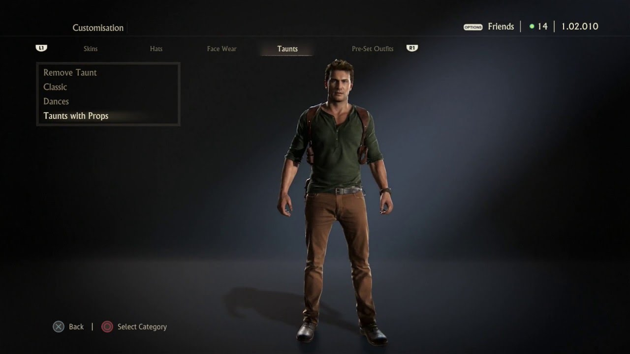 Uncharted 4 Dances Taunts With Props Youtube