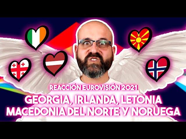 💜 REACCIÓN EUROVISIÓN 2021: GEORGIA, IRLANDA, LETONIA, MACEDONIA Y NORUEGA | La subred de Mario