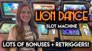 How Many Times is it Going to Re-Trigger? Lion Dance Slot Machine!