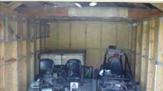 Garaż z płyt OSB (drewniany)