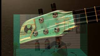 Surf ukulele. Shell back tenor ukulele by Ray Vincent. O'Connor art gallery location.