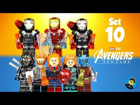 Avengers Endgame Iron Man War Machine Ronin Thor Captain Marvel Nebula Unofficial Lego Minifigures
