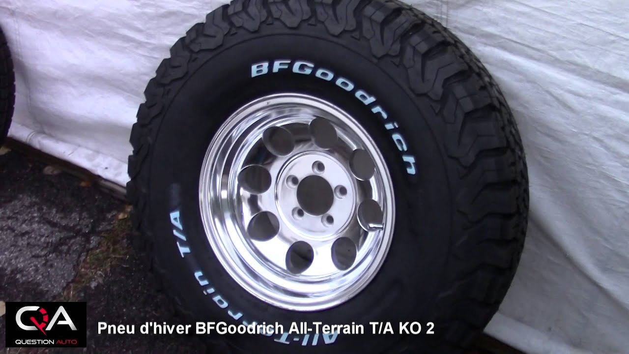 pneus d 39 hiver bfgoodrich all terrain t a ko2 simplement. Black Bedroom Furniture Sets. Home Design Ideas