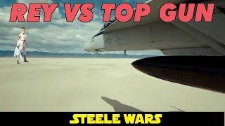 Rey from Star Wars vs Top Gun's Maverick!