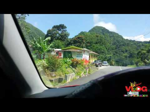 Discovering Dominica driving through the country side
