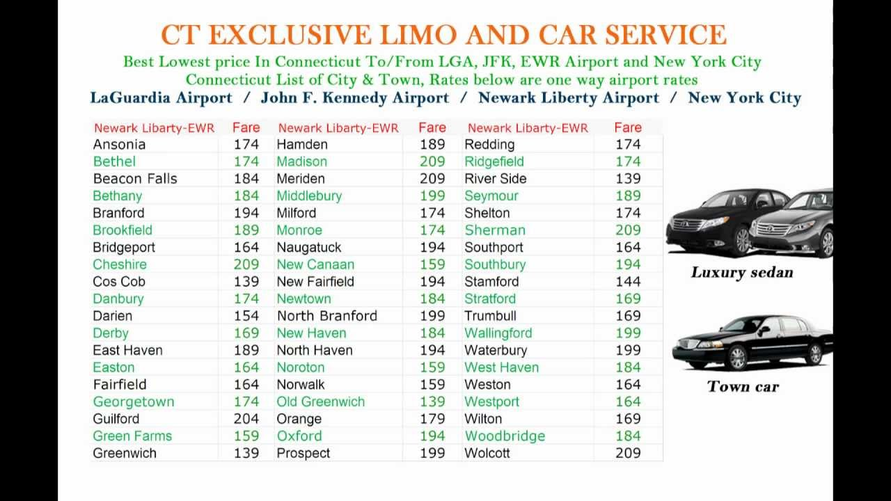 Connecticut Airport Limo Ct Limo Ct Shuttle Ct Car Service Luxury Sedan