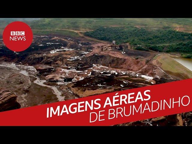 Imagens aéreas da tragédia em Brumadinho