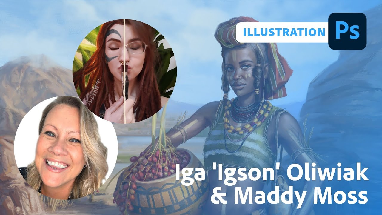 Illustration with Iga 'Igson' Oliwiak and Maddy Moss | Adobe Live