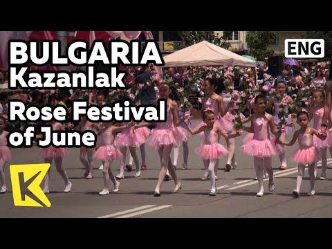 【K】Bulgaria Travel-Kazanlak[불가리아 여행-카잔루크]6월 장미축제/Rose Festival/June/Parade/Bread/Seuthopolis square