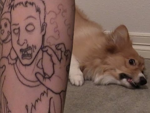 Tattoo + Ein Corgi - YouTube Uberhaxornova Tattoo Sleeve