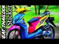Pasang skotlet warna kombinasi modifikasi BEAT 2014 THAILOOK STICKER मोटर संशोधन