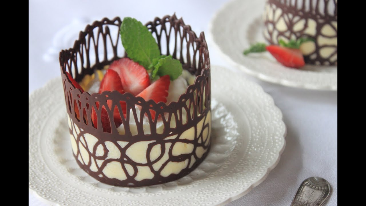 Favori How to Make Chocolate Lace Dessert Cups - YouTube ZF54