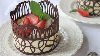 How To Make Chocolate Lace Dessert Cups