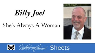 She's Always a Woman - Billy Joel (Piano Accompaniment)