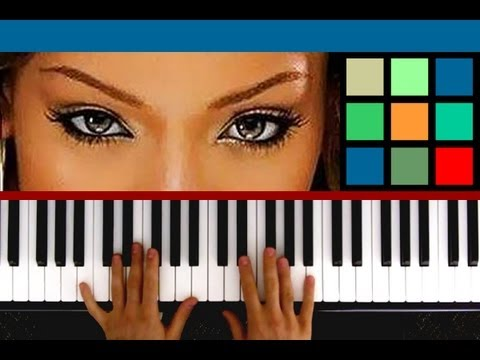 """How To Play """"Cheers (Drink To That)"""" Piano Tutorial / Sheet Music (Rihanna)"""