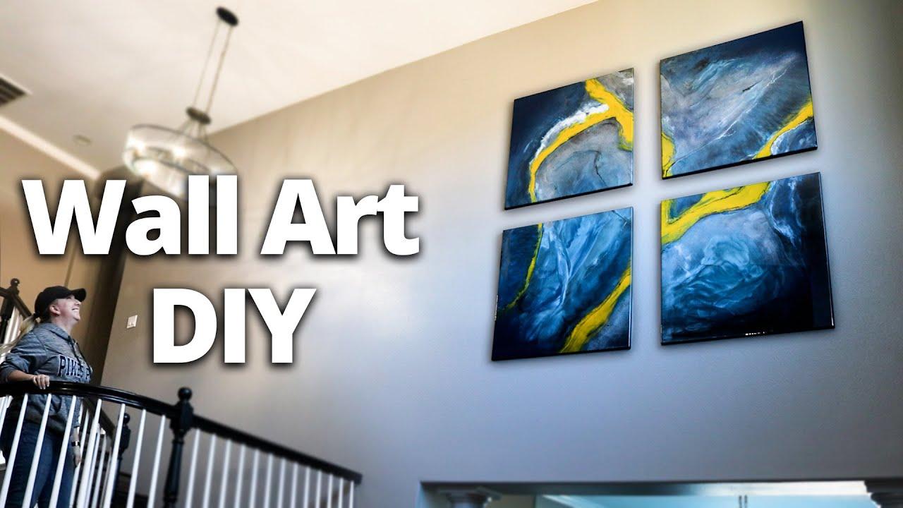 Make HUGE Abstract Wall Art | Stone Coat Epoxy