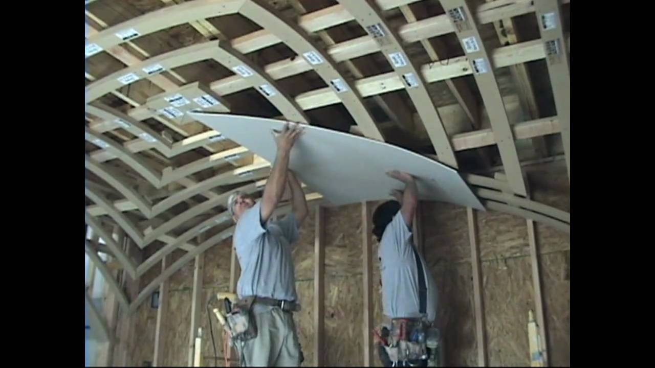 how to drywall a groin vault ceiling with archways & ceilings made