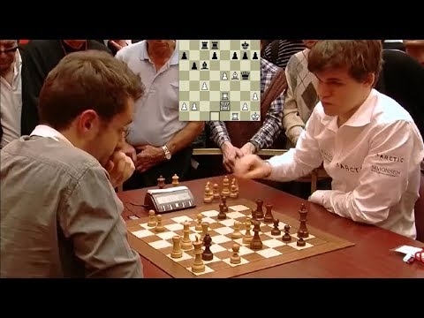 EXCITING TACTICAL ENDGAME!!! LEVON ARONIAN VS MAGNUS CARLSEN - BLITZ CHESS 2010