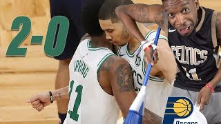 GET THE BROOMS OUT EARLY!! CELTICS vs PACERS GAME 1 & 2 NBA PLAYOFFS HIGHLIGHTS