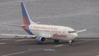 Jet 2 Boeing 737-300 Landing and departure Madeira
