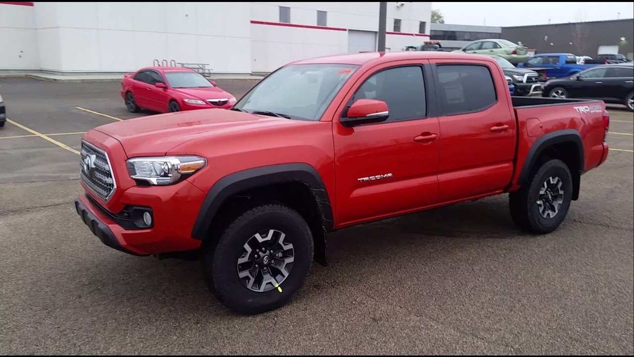 2017 toyota tacoma trd off road double cab full detailed review canadian model youtube. Black Bedroom Furniture Sets. Home Design Ideas