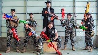 LTT Nerf War : Couple SEAL X Warriors Nerf Guns Fight Criminal Group Dr Lee Bandits Store