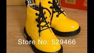 видео детские ботинки