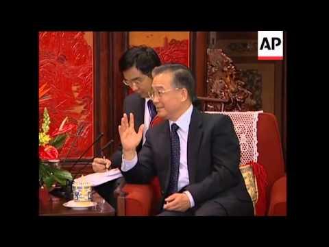 Former US President Carter meets Wen Jiabao
