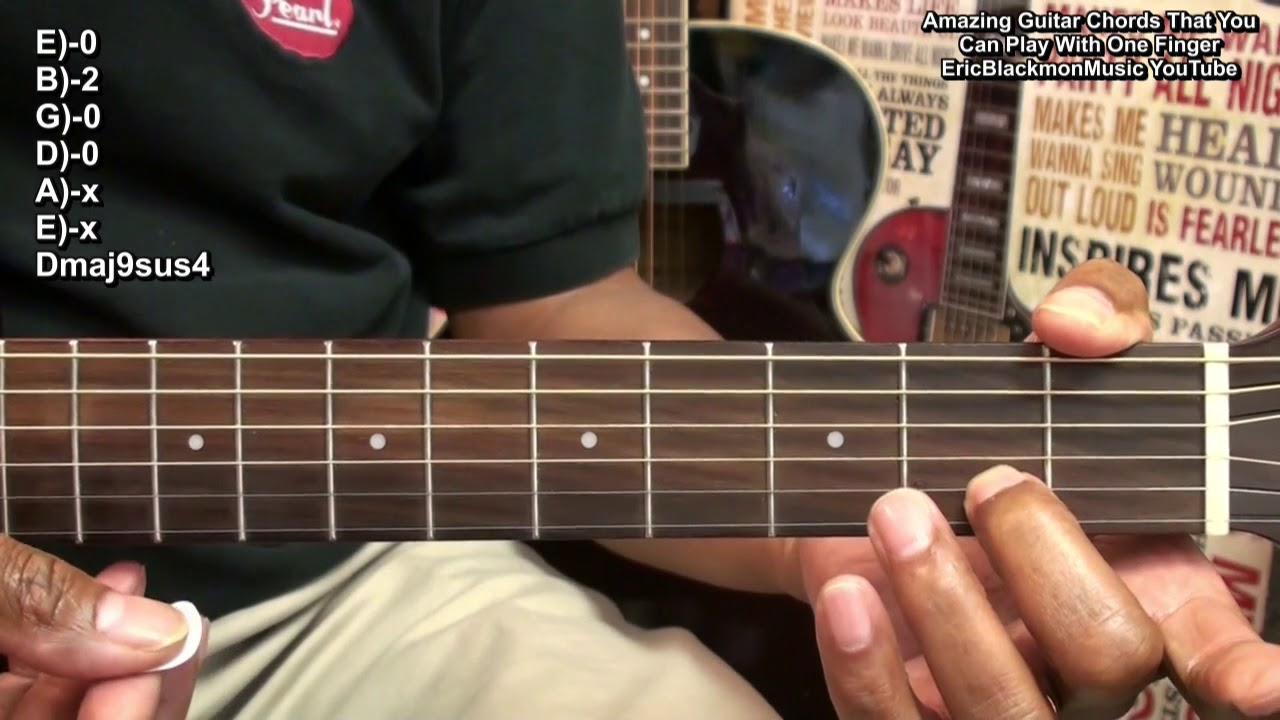 50 One Finger Guitar Chords In 6 Minutes Amazingly Easy