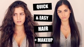 GRWM♡ QUICK AND EASY HAIR+MAKEUP!