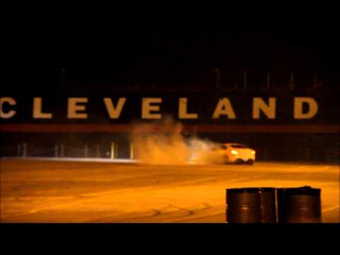 Genesis Coupe Drifting in Cleveland parking lot