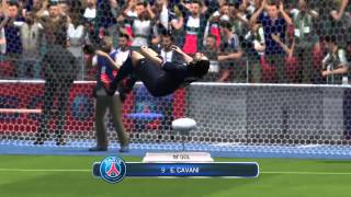 FIFA 14 | Amazing Overhead/Bicycle kick from Cavani