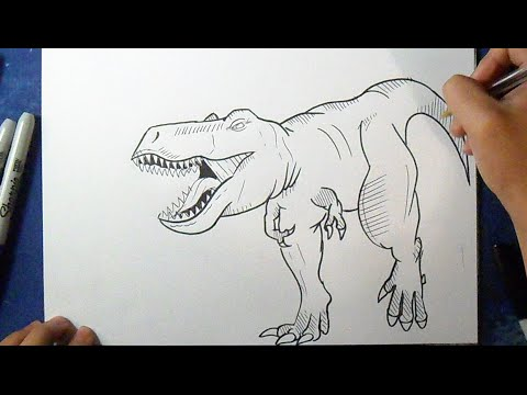 Cómo dibujar Tiranosaurio Rex | How to Draw Rex - tyrannosaurus