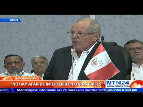 Kuczynski pone a Venezuela en el centro de la discusión de la Cumbre Iberoamericana en Colombia