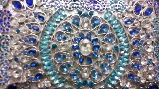 DIY Beaded Blue Box Clutch Bag…