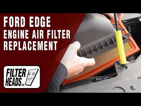 How To Replace Engine Air Filter   Ford Edge V